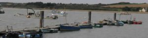Fishing and leisure ports morred at Treguier, near Penestin, France