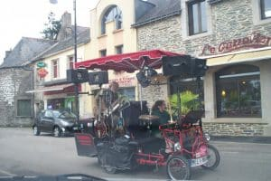 A bicycle in France with a music machine