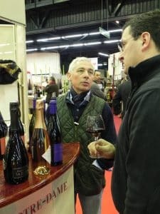 Gérald at Marc's stand