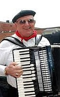 Frenchman playing accordian