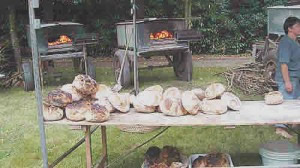 Bread festival at saint martin-sur-oust