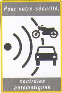 French speed camera warning sign