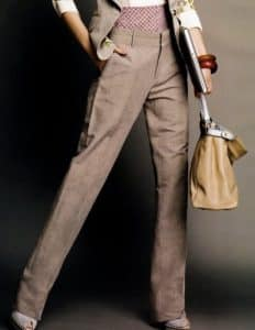 French woman in trousers