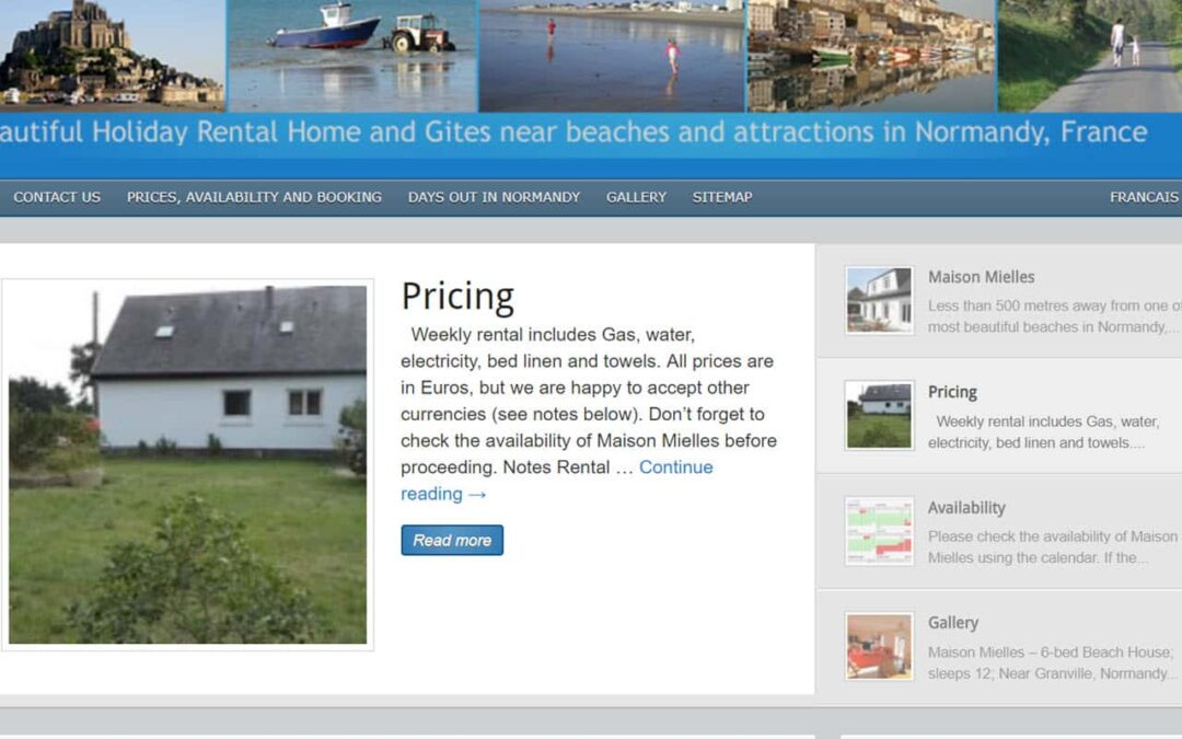 10 reasons to have your own holiday property website